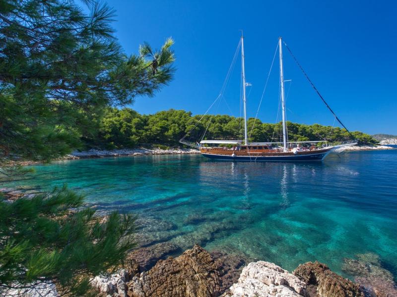 crociera a Dubrovnik a bordo di un Caicco
